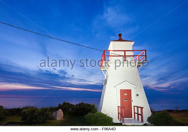 Port George Lighthouse in Nova Scottia - Stock Image