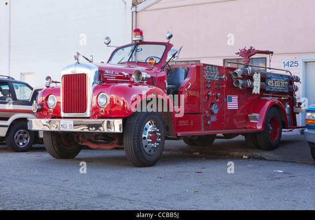 Old Mack Fire Trucks : Classic fire truck stock photos