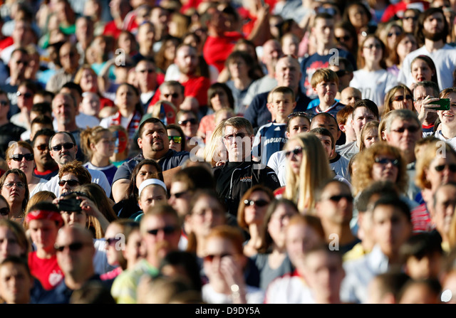 sports stadium crowd, Gillette Stadium, Massachusetts - Stock Image