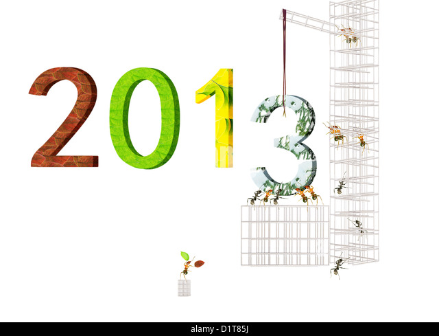 A group of red ants build 2013. - Stock Image