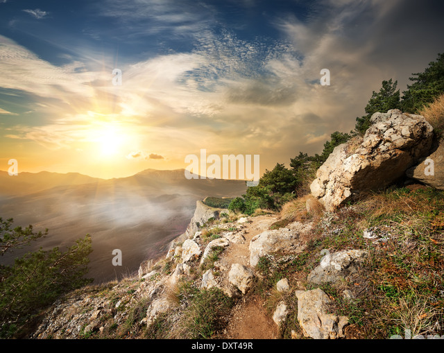 View at Valley of ghosts in sunlight - Stock Image