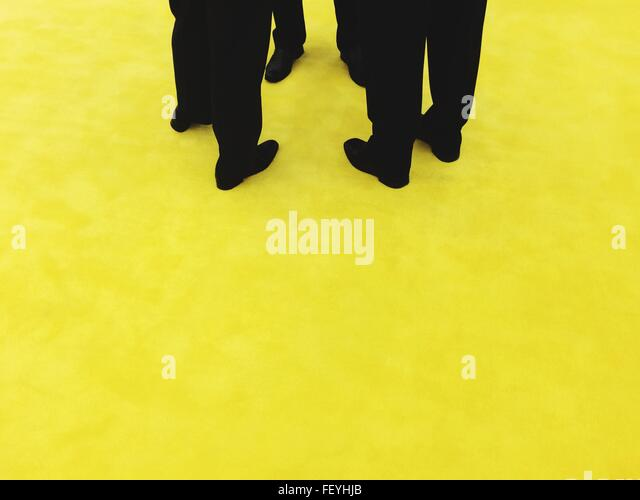 People Walking On Street - Stock Image