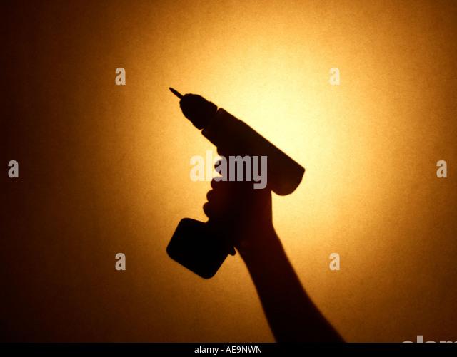 Drill hand - Stock Image