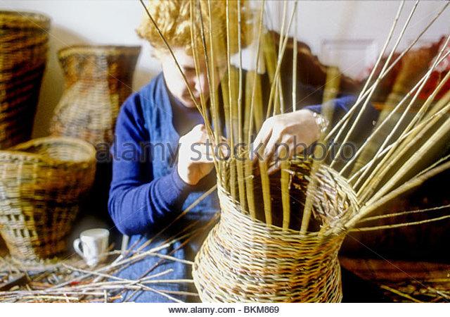 Basket Weaving London : Willow weaving stock photos images