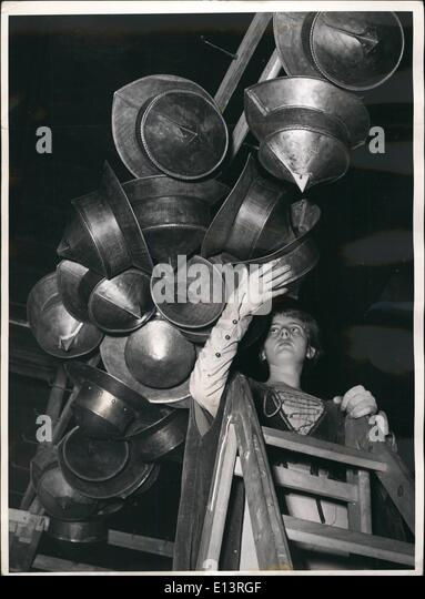 Mar. 27, 2012 - This nice page chooses the helmet with which his knight is to do the famous ''Ringelstechen'' - Stock Image