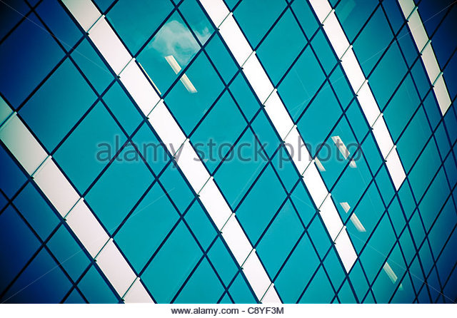 corporate building with office windows - Stock-Bilder