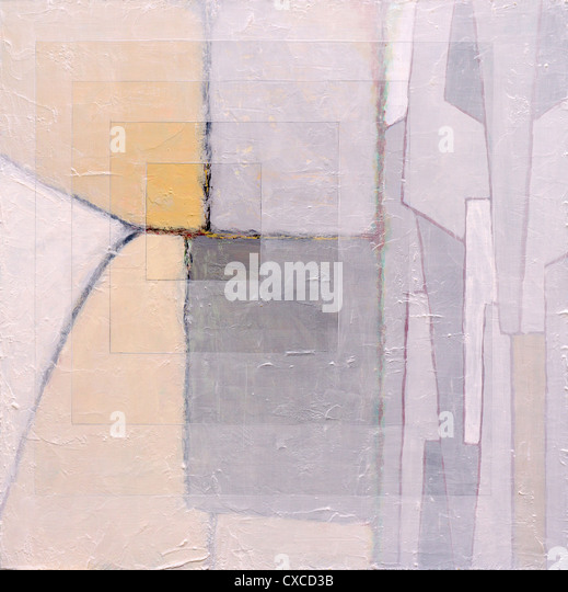 a geometric abstract painting - Stock Image
