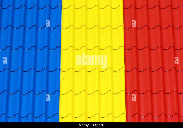 Blechdach tin roof 01 - Stock Image