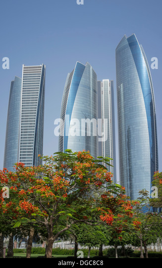 Etihad Towers, Adu Dhabi, United Arab Emirates - Stock Image