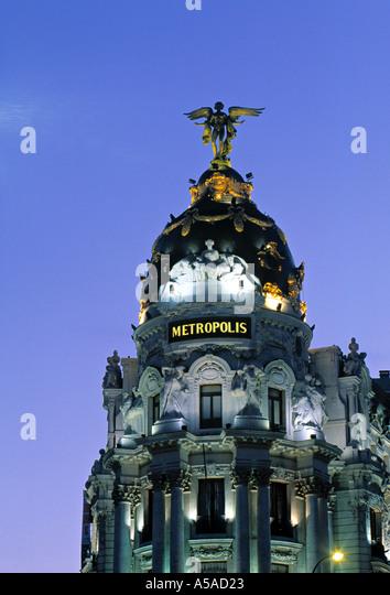 Metropolis Building, Madrid, Spain - Stock Image