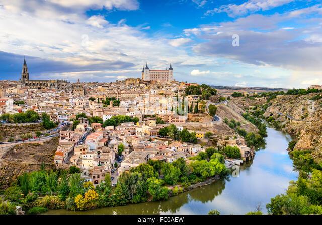 Toledo, Spain old town city skyline. - Stock Image