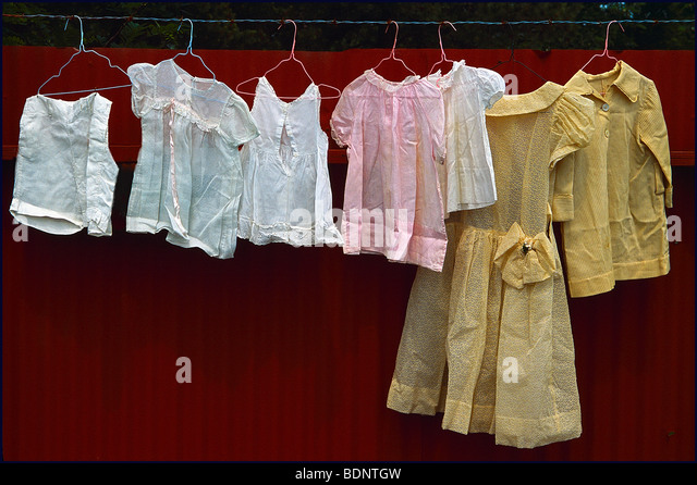Children's clothing - Stock Image