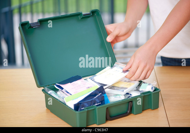 First aid box. - Stock Image
