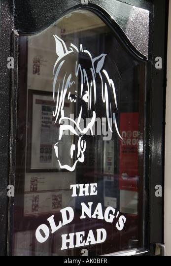 Manchester England UK Jackson's Row The Old Nag's Head pub bar entrance - Stock Image