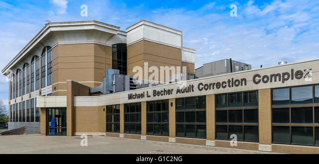 Jeffersonville, Indiana, USA - April 10, 2016: Clark County Indiana Jail. Filming location of the unscripted A&E - Stock Image