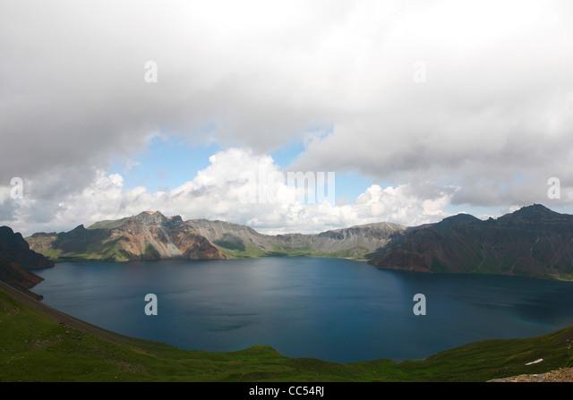 Heaven Lake, Baekdu Mountain, Baishan, Jilin , China - Stock Image