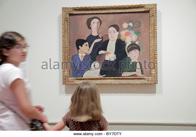 Maryland Baltimore Baltimore Museum of Art Wyman Park gallery exhibition collection painting Marie Laurencin. 'Apollinaire - Stock Image