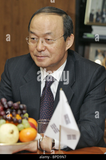 South Korean Minister of Foreign Affairs and Trade Song Min-soon - Stock Image