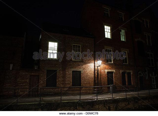 night buildings - Stock Image