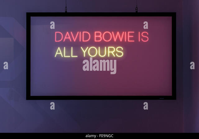 V&A David Bowie Is exhibition at ACMI, Melbourne, Australia - Stock-Bilder