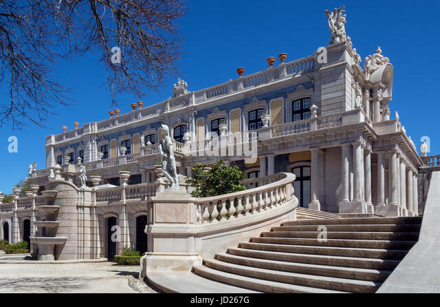 Entrance to the National Palace of Queluz - Lisbon - Portugal. - Stock Image