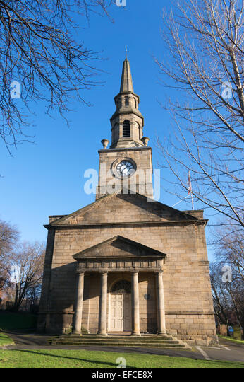 St Ann's 18th century church Newcastle upon Tyne, England, UK - Stock Image
