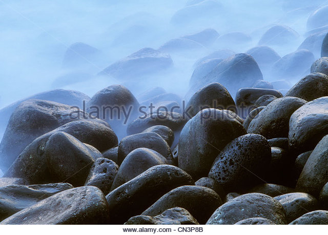 Volcanic rock, Puna coast, Hawaii - Stock Image