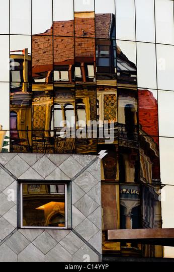 Hans Hollein Haas Haus Vienna Austria - Stock-Bilder