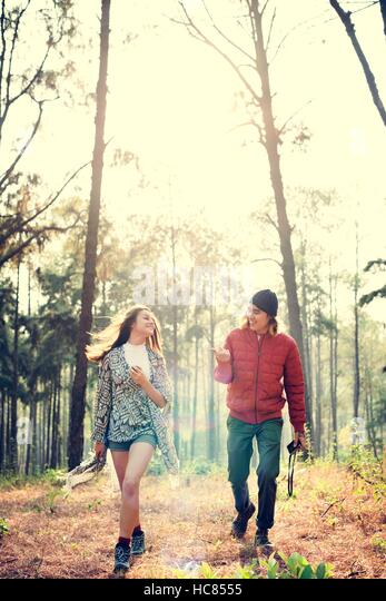 Couple Exploring Trip Holiday Concept - Stock Image