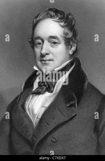 George Lyall (1779-1853) on engraving from 1837. Chairman of the Honourable East India Company in 1830. - Stock Image