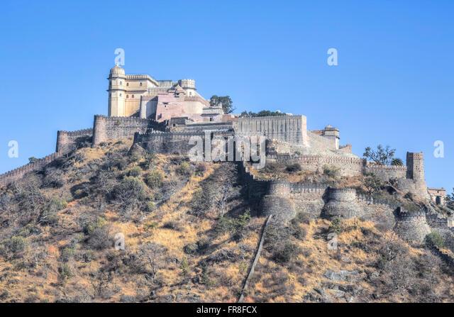 Kumbhalgarh Fort, Mewar, Rajsamand, Rajasthan, India, Asia - Stock-Bilder