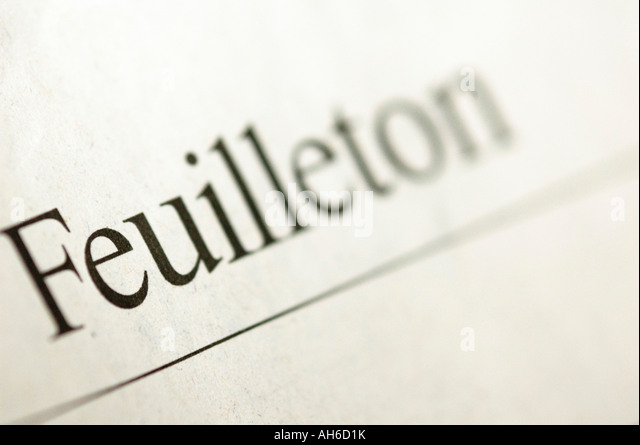 Feuilleton headline from a german newspaper - Stock Image