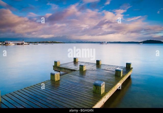 Lake Rotorua, North Island, New Zealand - Stock Image