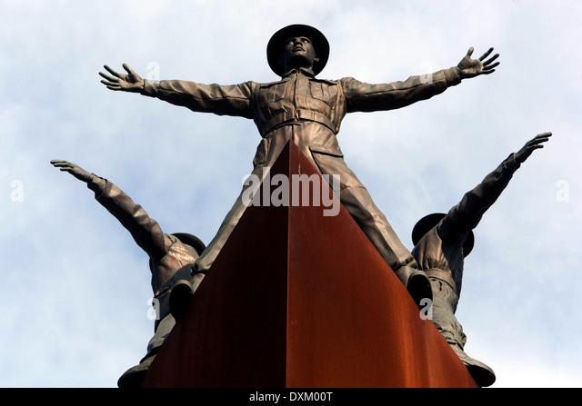 Memorial 2WW Operation Anthropoid, site of the assassination of Reinhard Heydrich in Prague, Liben, Czech Republic - Stock-Bilder