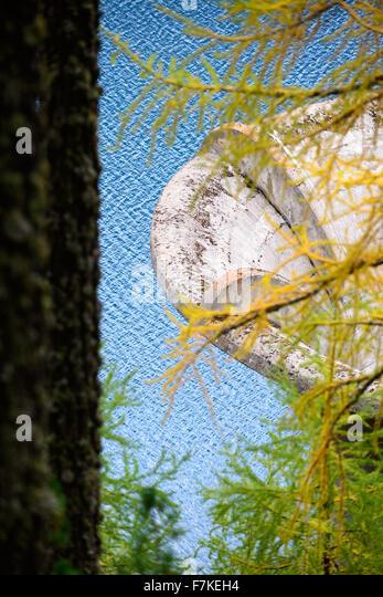 Überlauftrichter Stausee | Overflow funnel reservoir - Stock Image