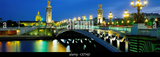Pont Alexandra III, Paris, France - Stock Image