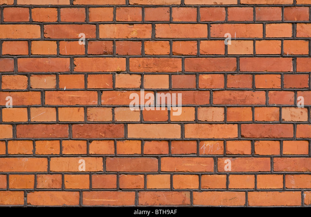 The facade view of the old brick wall for design background. - Stock-Bilder