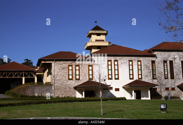 Winery building. Miolo Wine Groupe, Bento Goncalves, Vale dos Vinhedos, southern Brazil - Stock Image