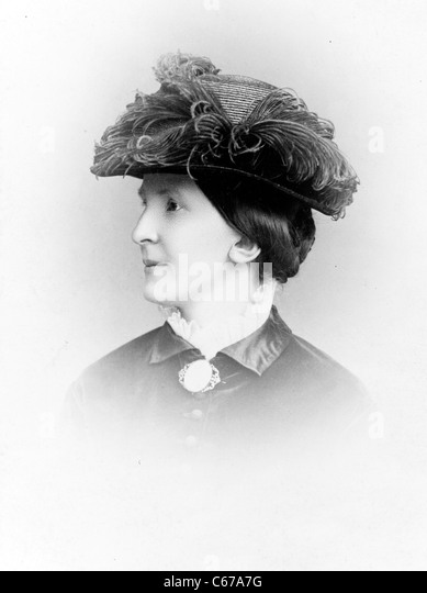 Anna Wilhelmina Hierta Retzius, Swedish philanthropist, circa 1880 - 1890 - Stock Image