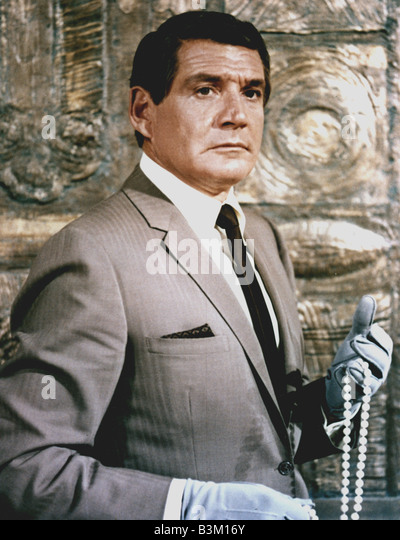 THE BARON  US TV series with Gene Barry - Stock Image