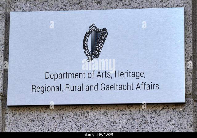 department of arts heritage regional rural and gaeltacht affairs Dublin Republic of Ireland - Stock Image