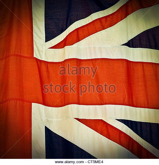 union jack crop - Stock Image