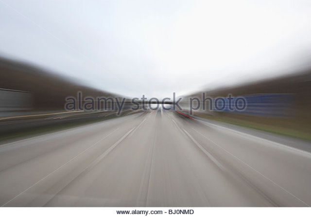 blurred image of motorway - Stock Image