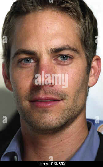 November 30, 2013 - File - PAUL WALKER, an actor perhaps best known for his roles in the 'Fast and Furious' - Stock Image