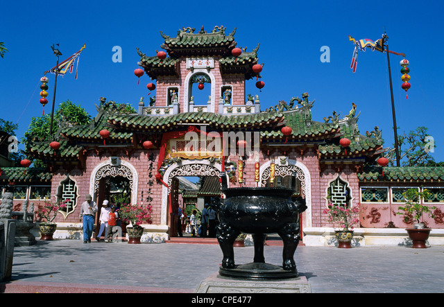 Fukien Chinese Assembly Hall gateway, Hoi An, South Central Coast, Vietnam, Indochina, Southeast Asia, Asia - Stock Image