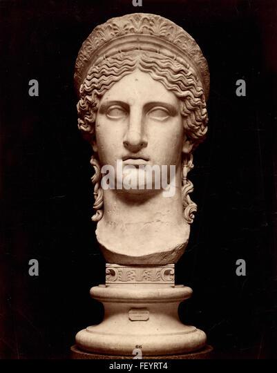 Head of Juno, Roman statue - Stock Image