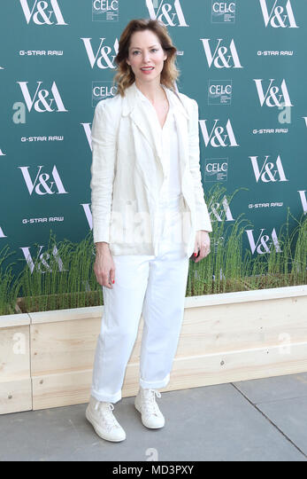 London, UK. 18th Apr, 2018. Sienna Guillory, Fashioned from Nature - VIP Preview, Victoria and Albert Museum, London UK, 18 April 2018, Photo by Richard Goldschmidt Credit: Rich Gold/Alamy Live News - Stock Image