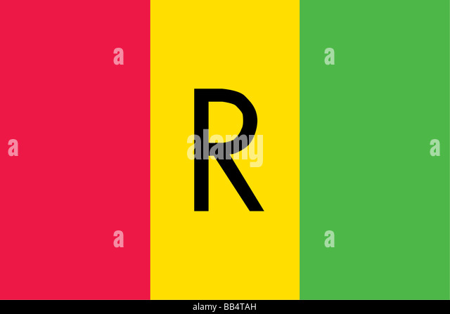 Historical flag of Rwanda, a landlocked country in central Africa, from 1961 to 2001. - Stock Image