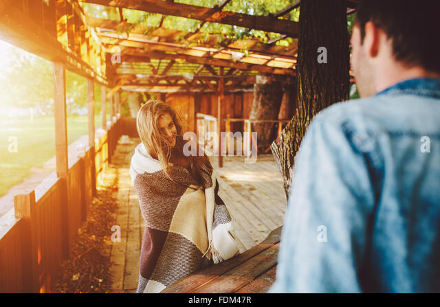 young beautiful couple - Stock Image