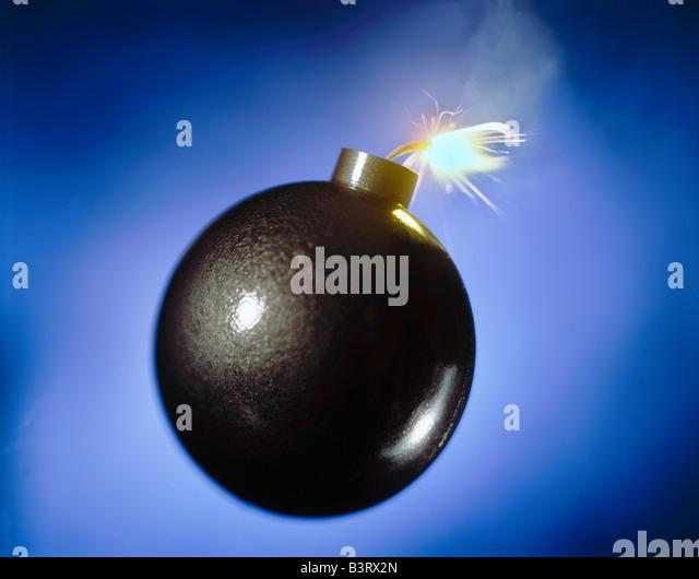 Bomb horizontal - Stock Image